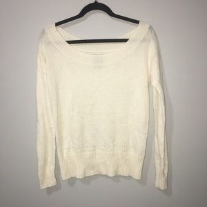 Oatmeal Wool Blend Pullover Sweater AE